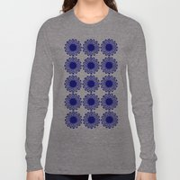 Vintage Flower Blue Long Sleeve T-shirt