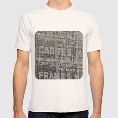 Ghost Sign and Sign Mens Fitted Tee Natural SMALL