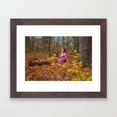 October Picnic Framed Art Print