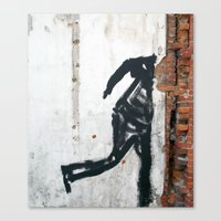 People Disappear, Right Before Our Eyes, Like Old Bricks In a Wall Canvas Print