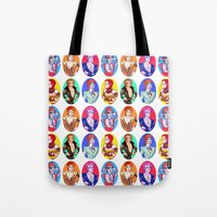Glam Bowie Pattern  Tote Bag
