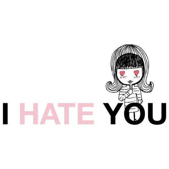 I Hate You / Mask Art Print