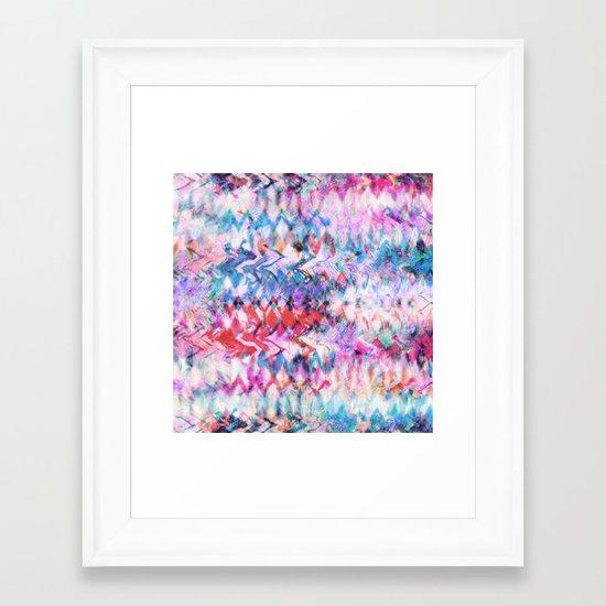 Tie Dye Soda Framed Art Print