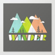Canvas Print featuring Wander  by Jenny Tiffany