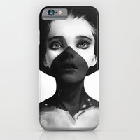 black iPhone & iPod Cases featuring Hold On by Ruben Ireland