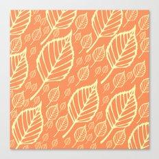 Orange Autumn Leaf Design  Canvas Print