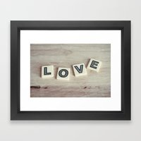 Letter Love Framed Art Print
