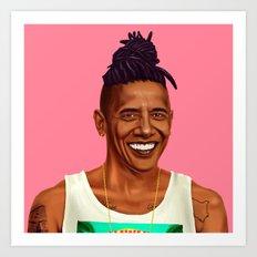 Hipstory - Barack Obama Art Print