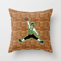 Celtics Leprechaun Jumpman Throw Pillow