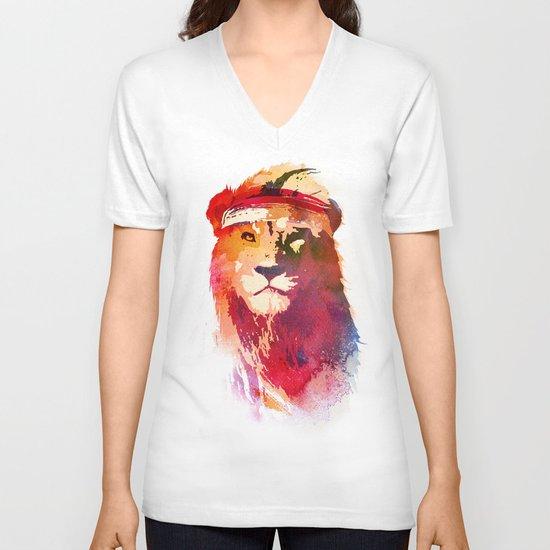 Gym Lion V-neck T-shirt