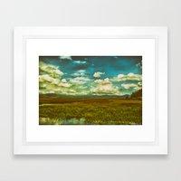 Flower Lake Framed Art Print