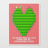 In Games And In Love Canvas Print