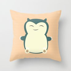 It aint easy being sleepy. Throw Pillow