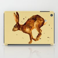 Hare, hare cushion, rabbit pillow iPad Case