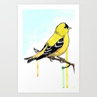 Art Print featuring Goldfinch by Eric Weiand