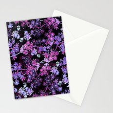 Pink & Purple Floral Pattern Stationery Cards