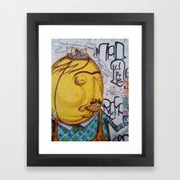 Yellow man Framed Art Print