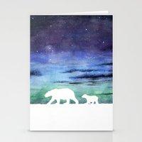 Aurora Borealis And Pola… Stationery Cards