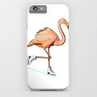 Flamingo on ice iPhone 6 Slim Case