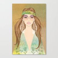 Hippie girl Canvas Print
