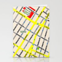 NEW YORK Map Design - SO… Stationery Cards