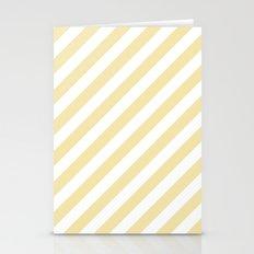 Diagonal Stripes (Vanilla/White) Stationery Cards