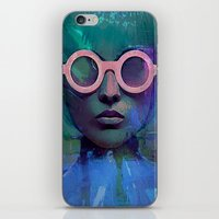 Pink Glasses girl iPhone & iPod Skin