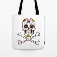 Sugar Skull & Cross Bones Tote Bag