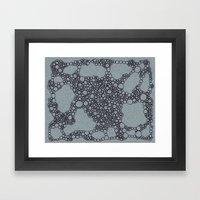 Black Bubbles  Framed Art Print