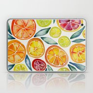 Sliced Citrus Watercolor Laptop & iPad Skin