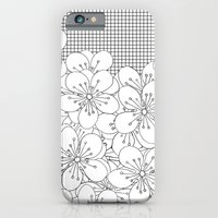 iPhone & iPod Case featuring Cherry Blossom Grid - In Memory of Mackenzie by Project M