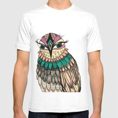 A Lovely Owl Mens Fitted Tee SMALL White