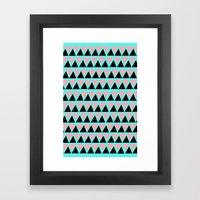 Electric Triangle  Framed Art Print