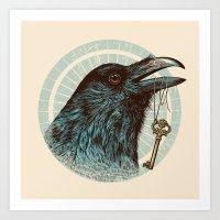 Raven's Head Art Print
