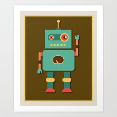 Fun Robot Toy Graphic Art Print