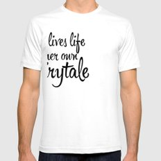 FAIRYTALE White Mens Fitted Tee SMALL