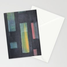 Light behind Black Stationery Cards