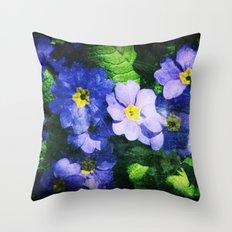 bluest ones Throw Pillow