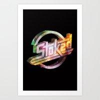 Stoked Cosmos Art Print
