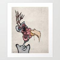 Buck n' Cluck Art Print