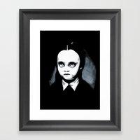 Wednesday Dark Room Framed Art Print