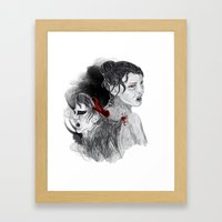 Black Swan II Framed Art Print