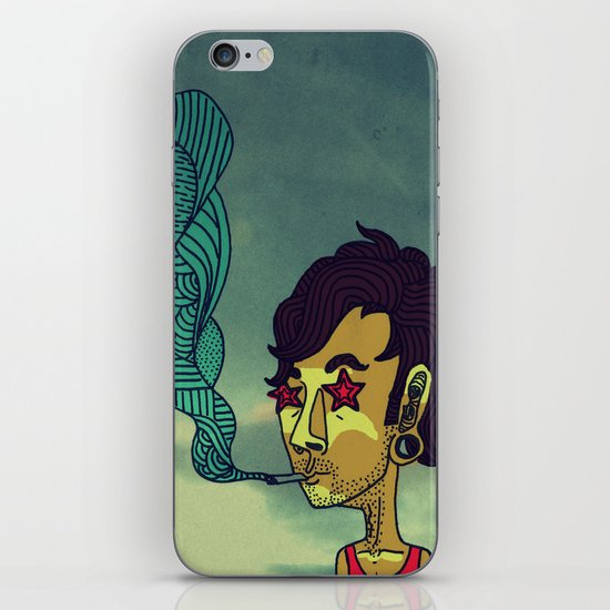 """Today His Hair Fell Just the Right Way, So he Rewarded Himself With a Blueberry Bagel"" iPhone & iPod Skin"