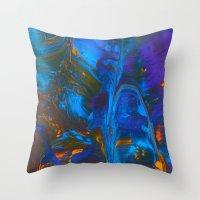 Gravity Painting 16 Throw Pillow
