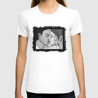 KISS 2 Womens Fitted Tee White SMALL