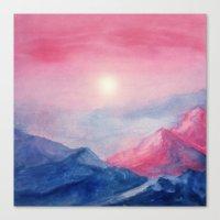 Pastel vibes watercolor 01 Canvas Print