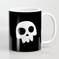 Skull Head Logo With Thr… Mug