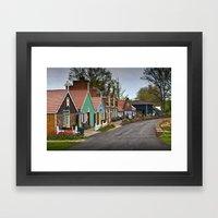 Dutch Shops on Windmill Island in Holland Michigan a Taste of the Netherlands Framed Art Print
