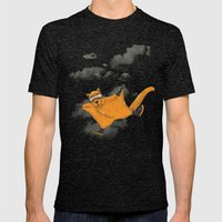 Wingsuit Flyer Mens Fitted Tee Tri-Black SMALL