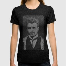Hermann Rorschach Lines Womens Fitted Tee Tri-Black SMALL